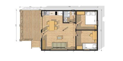 plan de maison plain pied 4 chambres gratuit habitat modulaire en bois modulob 40b de 40 m terrasses