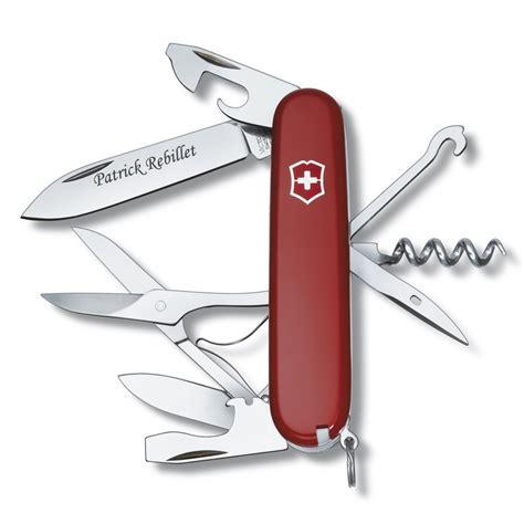 couteau cuisine victorinox couteau suisse gravé personnalisé victorinox climber