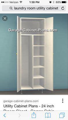 utility cabinet plans   broom closet dimensions