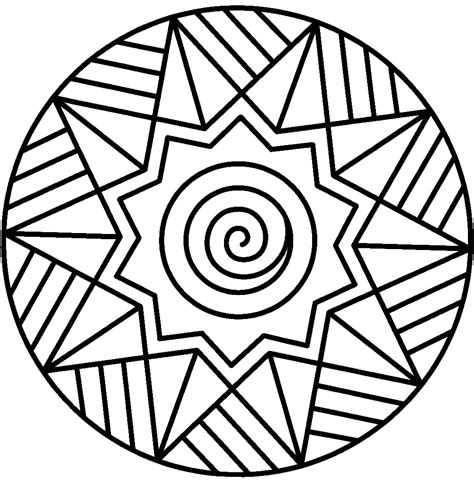 coloring pages easy mandala coloring pages easy coloring