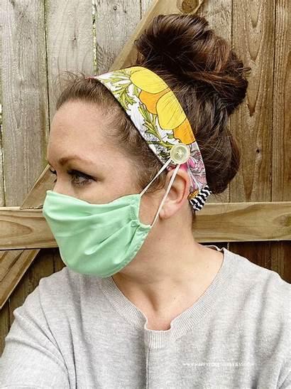 Headband Pattern Fabric Mask Double Face Masks