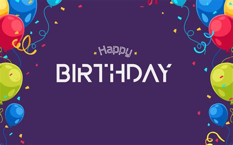 wallpapers happy birthday art violet background