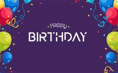 Birthday Happy Background Violet Wallpapers Resolution Party