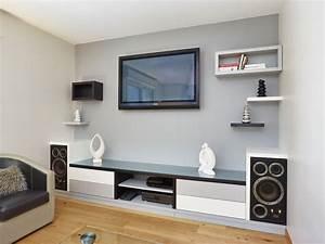 Meuble Tv Hifi : meuble de tv hifi sur mesure atelier madec nantes 44 ~ Teatrodelosmanantiales.com Idées de Décoration