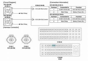 Hyundai Santa Fe  Cvvt Oil Control Valve  Ocv   Schematic