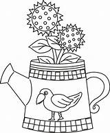 Coloring Watering Pages Sunflower Crow Printable Sunflowers Adult Clipart Clip Comments Coloringhome Library Popular sketch template