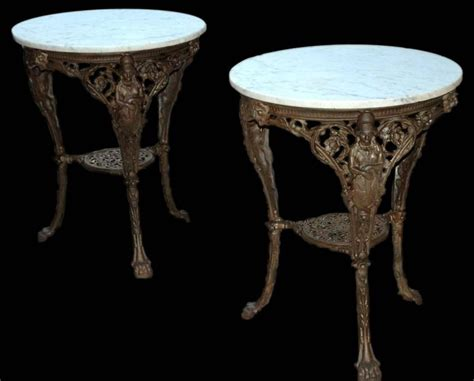 cast iron and marble garden tables for sale at 1stdibs