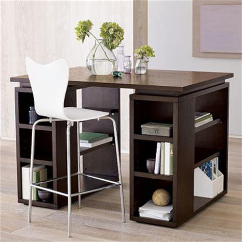 west elm flat bar storage desk modular counter height desk for talls tallook tall