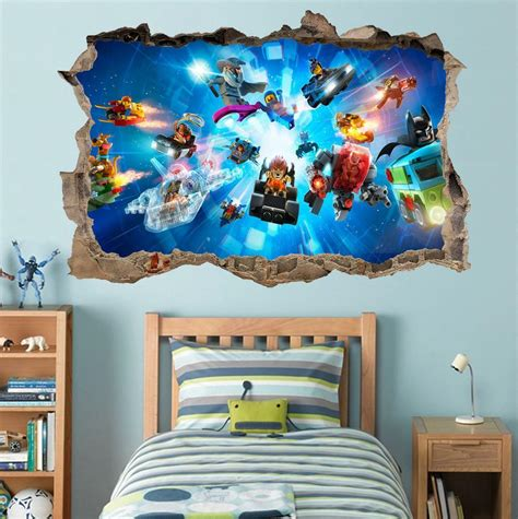 Lego Bedroom Wall Decals by Lego Characters Ninjago Batman Smashed Wall Decal Graphic