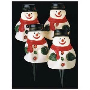 11 quot wobbly snowman lighted musical walkway stake lights set of 4 720900 rakuten com
