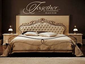 Wall decor for master bedroom : Your romantic bedroom using master with