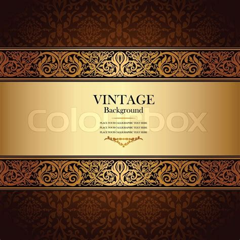 baroque powerpoint template free vintage background antique victorian gold ornament