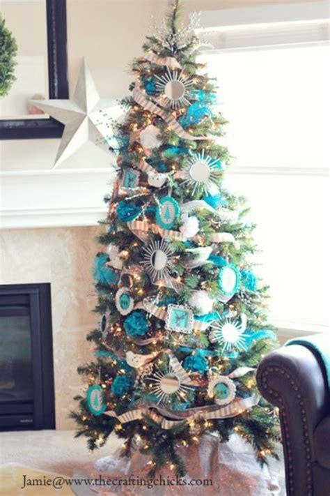 decoration sapin de noel blanc et bleu my