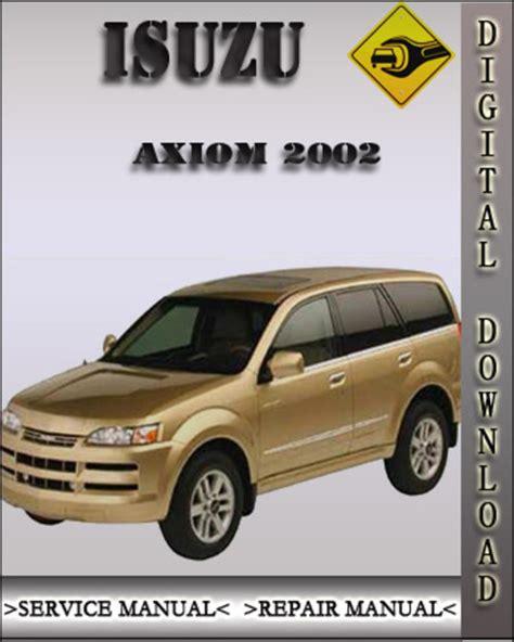 download car manuals 2003 isuzu axiom regenerative braking 2002 isuzu axiom factory service repair manual download manuals