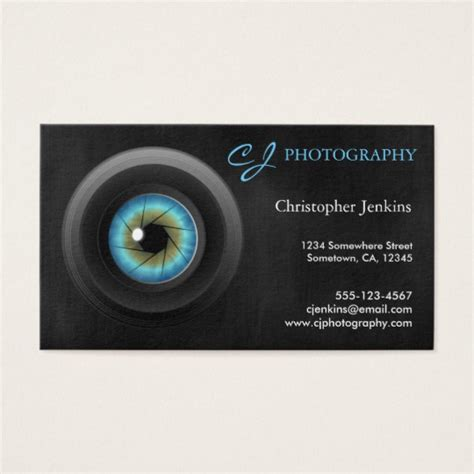 cool photography business cards cool photography blue eye lens photographer