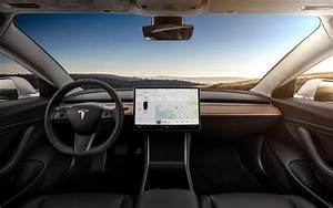 Download wallpapers Tesla Model 3, 2019, inside view, interior, front panel, electric car ...