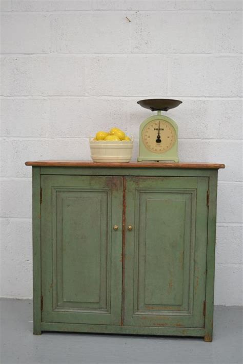 shabby chic painted kitchen cabinets vintage shabby chic pine painted green cupboard cabinet kitchen ebay