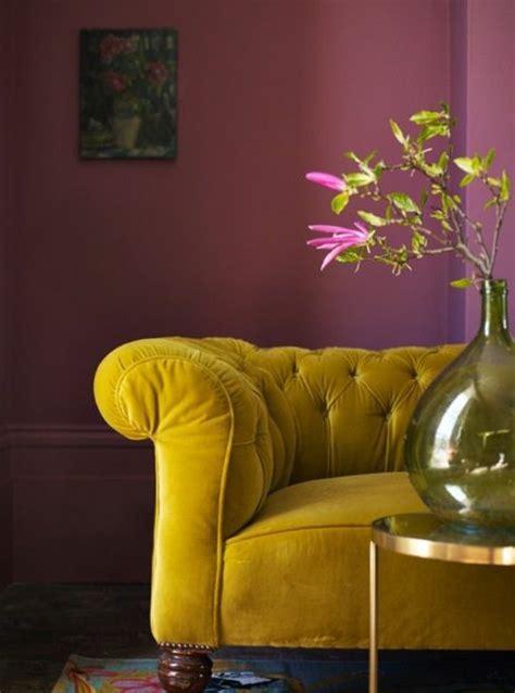 peinture pour canape en cuir on met l accent sur la couleur de peinture pour salon archzine fr