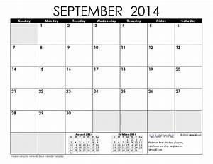 September 2014 Calendar Printable  2