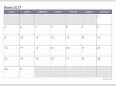 Calendario enero 2017 para imprimir iCalendarionet