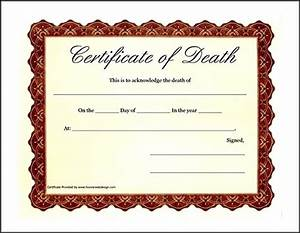 fake death certificate template example sample templates With fake death certificate template