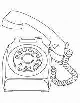 Coloring Telephone Phone Template Drawing Outline Sketch Printable Clip Getcolorings Getdrawings sketch template
