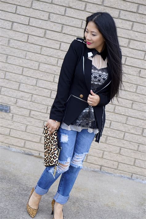 Ripped Boyfriend Jeans Outfit | www.pixshark.com - Images Galleries With A Bite!