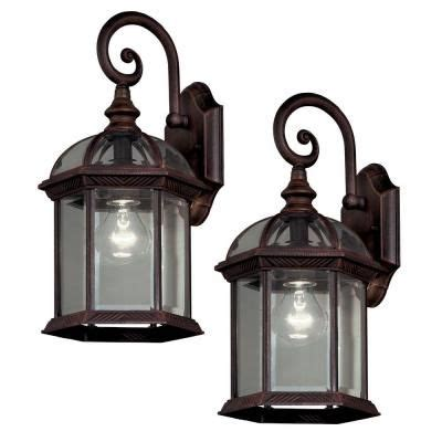hton bay twin pack 1 light weathered bronze outdoor