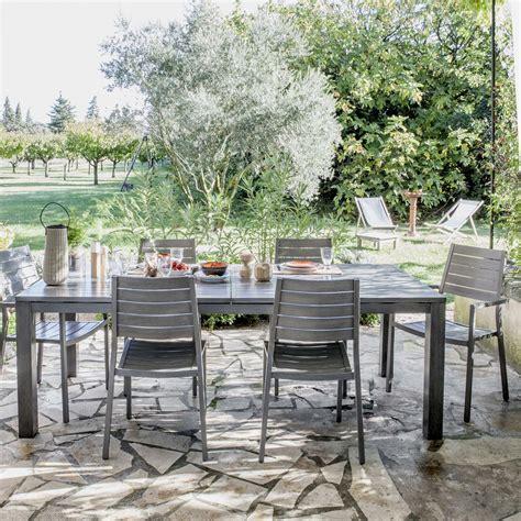 Salon de jardin Antibes NATERIAL gris 6 personnes | Leroy Merlin