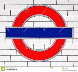 London Tube Sign Editorial Stock Photo - Image: 26175058