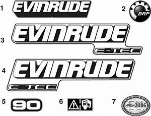 Evinrude Decals Parts For 2009 90hp E90dmxses Outboard Motor