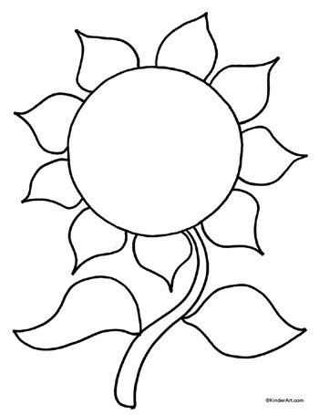 sunflower template sunflower leaf template clipart best