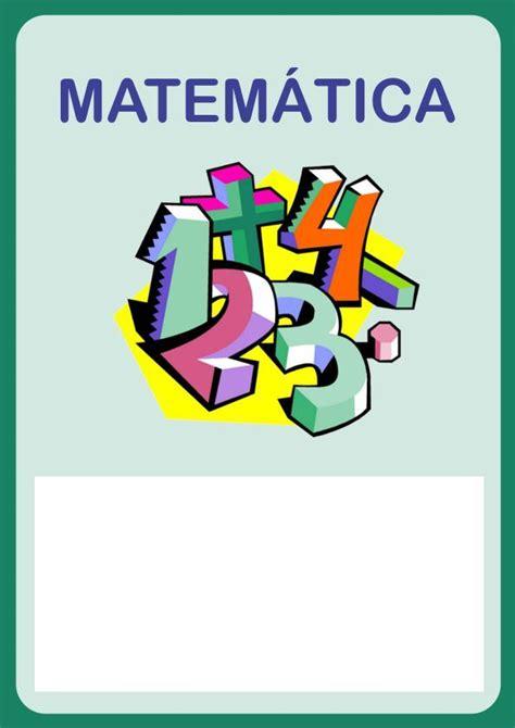 caratulas de matematica  imprimir buscar  google