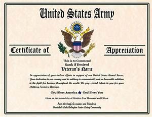military veterans appreciation certificates veterans day With military certificates templates