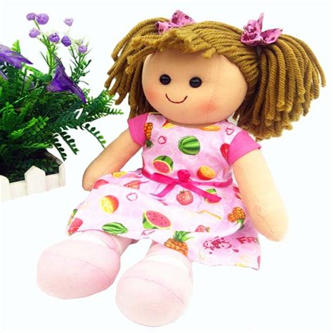 promotion soft girls toy doll   pink cotton doll