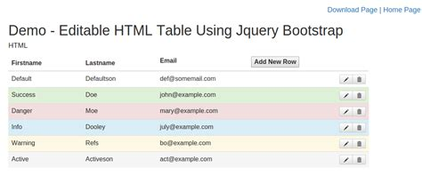 bootstrap templates table link create editable html table using jquery bootstrap with add