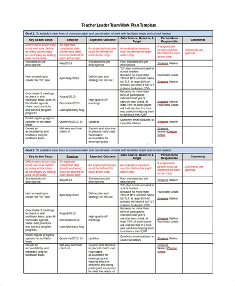 work plan template    word documents