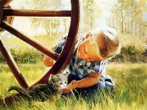 Kitten paintings. Donald Zolan