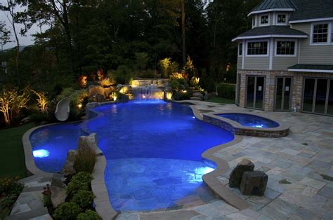 Vanishing Edge Pool Mahwah Nj  Cipriano Landscape Design