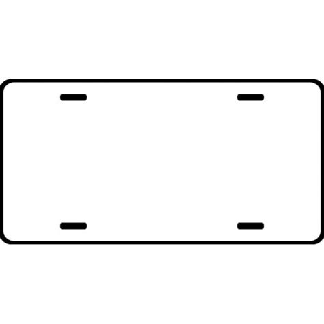License Plate Template 500px