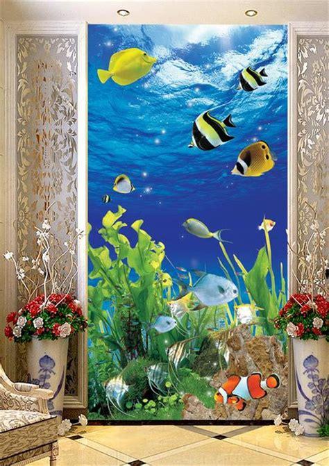 room wallpaper custom  woven murals tropical fish