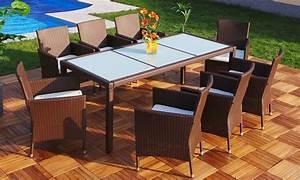 Gartenmöbel Set 8 Personen : 6 o 8tlg polyrattan esstisch set groupon ~ Orissabook.com Haus und Dekorationen