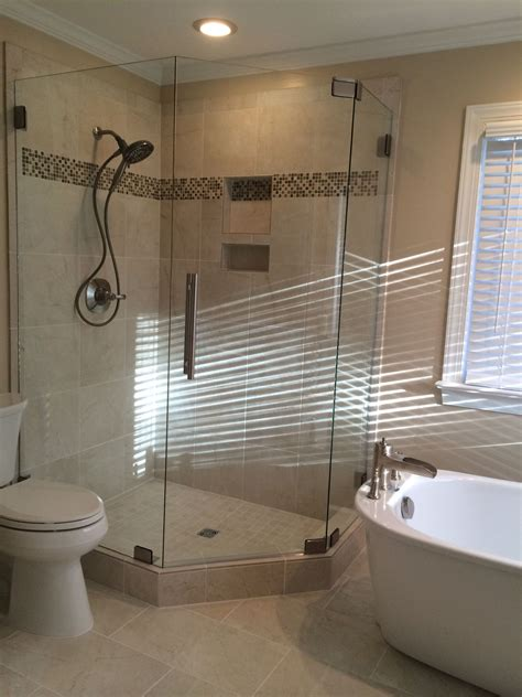 Corner Stand Alone Tub by Shower And Stand Alone Tub Shower Doors Stand