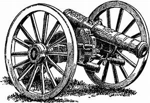 Cannon drawing clipart image #24096