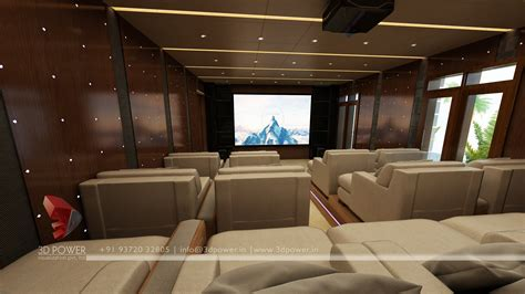 home theater interiors interior design services malappuram 3d power