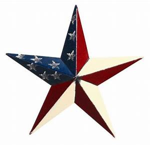 "Amish 10"" Patriotic Painted Barn Star"