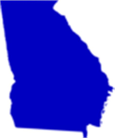 georgia state map outline solid clip art  clkercom