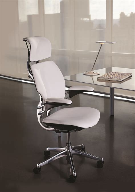 white leather modern task chair for your home office or