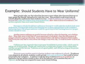 should students have to wear school uniforms