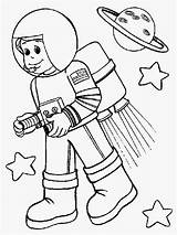 Astronaut Coloring Pages Space Kid Colouring Rocket Helpers Community Preschool Astronout Suit Printable Booster Wearing Cartoon Simple Spacecraft Drawing Titan sketch template